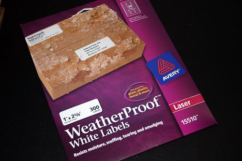 Avery\'s Weatherproof White Labels.