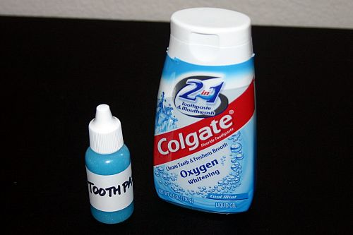 Your own dropper bottle of toothpaste.