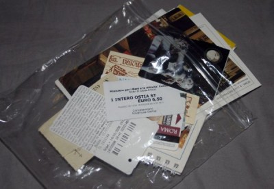 Used tickets and other souvenirs