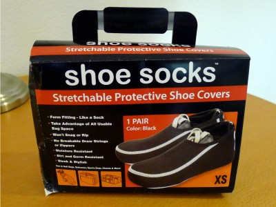 A box of extra small Shoesocks