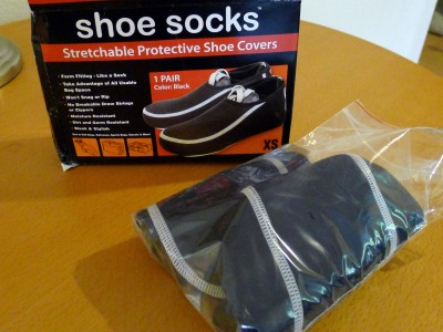 Shoesocks come in a plain box, in a plastic bag.